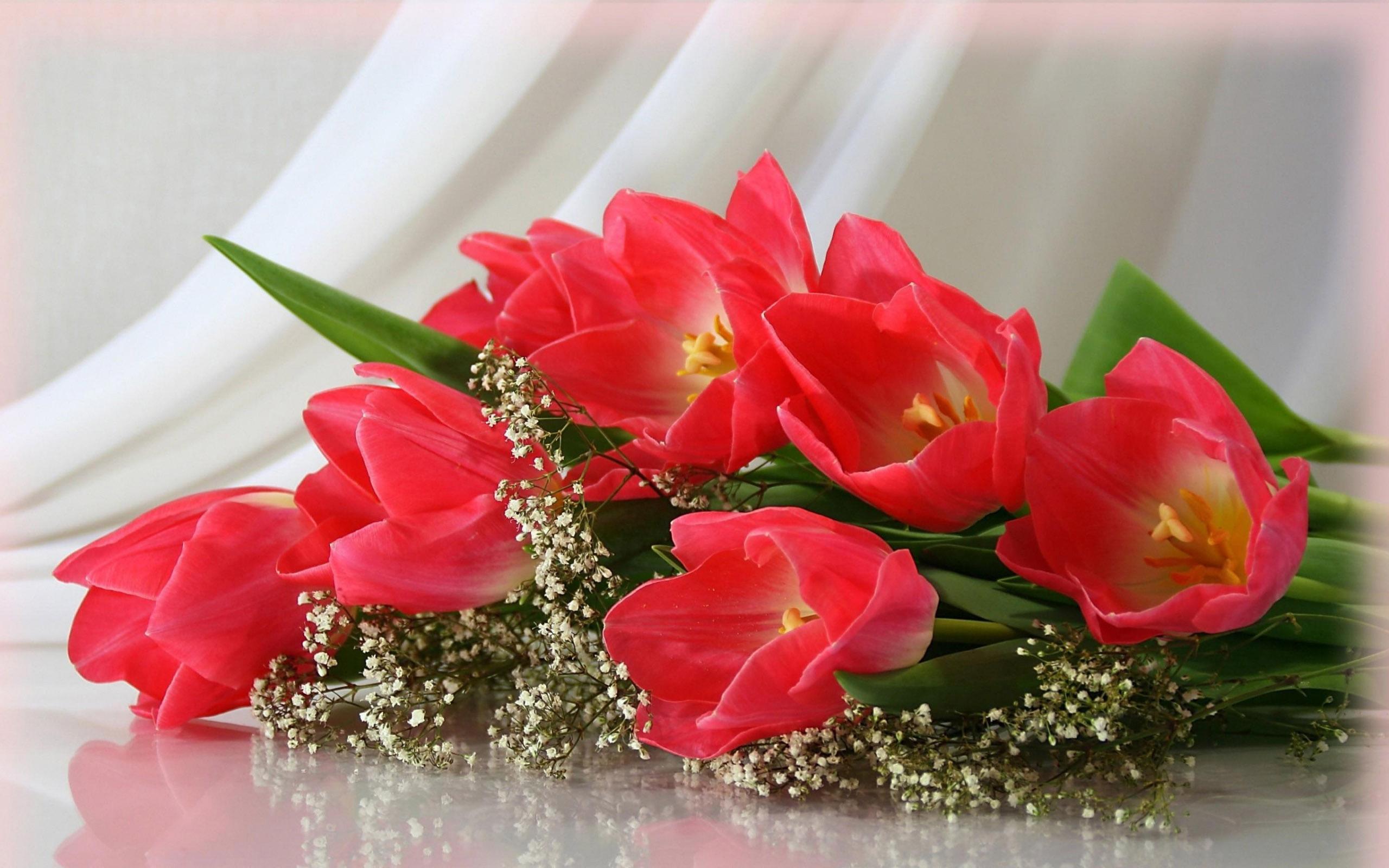 Поздравление по цветку